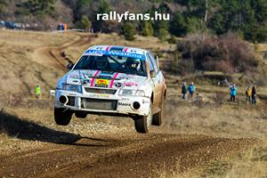 Hevesi István (Mitsubishi Lancer) Mikulás Rally háttérkép